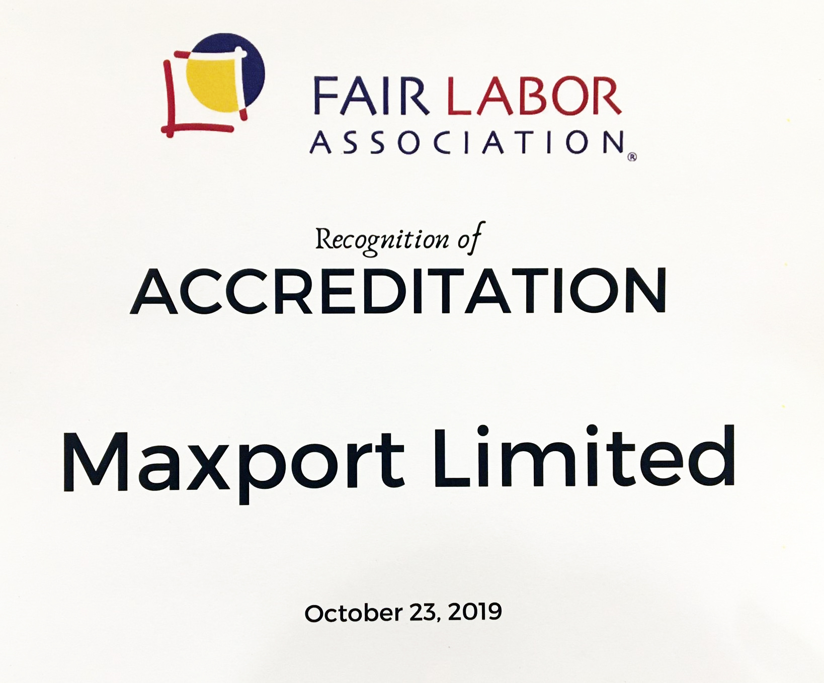Maxport Limited | Fair Labor Association